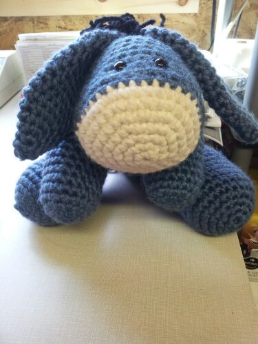 Free Crochet Pattern Stuffed Animals : Eeyore Crocheted Stuffed Animal Sublime Foodie